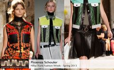 Proenza Schouler Spring 2013 collection #BelleMonde #Fashion #NewYorkFashionWeek