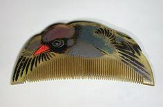 Peigne chinois en forme d'oiseau