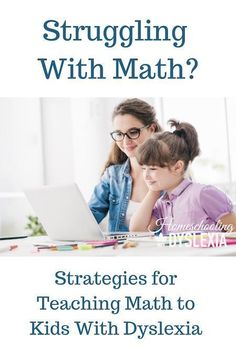 of students with dyslexia also struggle with math. Just as with teaching reading, there are effective strategies for teaching math to kids with dyslexia. Math For Kids, Fun Math, Teaching Reading, Teaching Math, Guided Reading, Reading Lists, Homeschool Math, Curriculum, Online Homeschooling