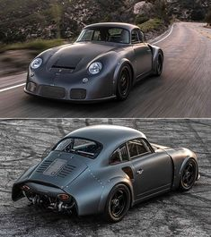 Emory Motorsports Porsche 356 RSR looks to be straight from Mad Max. Beetles Volkswagen, Volkswagen Bus, Vw Camper, Vintage Porsche, Vintage Cars, Kit Cars, Bugatti, Porsche 356 Speedster, Exotic Sports Cars