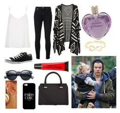 """""""Out for a walk with Lux and Harry"""" by amu1234 ❤ liked on Polyvore featuring Yves Saint Laurent, River Island, Converse, Casetify, Victoria Beckham, Vera Wang and Torrid"""
