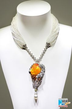 Cartier, pearls, citrine, diamonds, sapphire necklace~ should be in a museum, extraordinary!!!