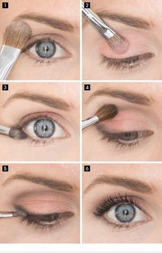 15 Simple Eye Make-Up Ideas for Work Outfits- Today we'll explain how you can use a simple eye make-up for your work clothes. Here, 15 step-by-step tutorials or ideas for eye make-up are offered. Simple Eye Makeup, Blue Eye Makeup, Eye Makeup Tips, Natural Makeup, Makeup Ideas, Makeup Hacks, Easy Makeup, Amazing Makeup, Perfect Makeup
