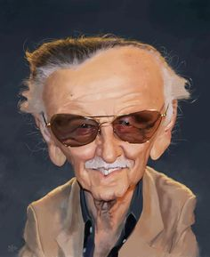 Caricature de Stan Lee par Olle Magnusson