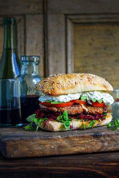 The Ultimate Lamb Burger and Rosewater Rhubarb Eton Mess