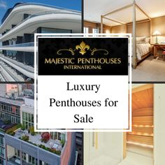 The world's leading penthouse specialist offers a range of luxury penthouses for sale, rent or lease worldwide from a global network of real estate experts.