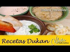 Salsas Dukan de Aperitivo (fase Ataque) / Dukan Diet Lowcarb Dips and Spreads - Points Plus Recipes, No Carb Recipes, Veggie Recipes, Diet Recipes, Healthy Recipes, Veggie Food, Low Gi Diet, Diet Food List, Diet Menu