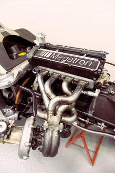 BMW Megatron engine from a Barclay-sponsored Arrows; Bmw Engines, Race Engines, Motor Engine, Car Engine, Bmw I, Aircraft Engine, Performance Engines, Bmw Series, Indy Cars