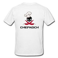 Chefkoch Totenkopf mit Chillis T-Shirts