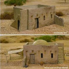 Get the latest Warhammer, Flames of War, Wargames and Miniature Soldier News. Cardboard Box Houses, Styrofoam Crafts, Christmas Nativity Scene, Nativity Scenes, Warhammer Terrain, Adobe House, Wargaming Terrain, Modelos 3d, Desert Homes