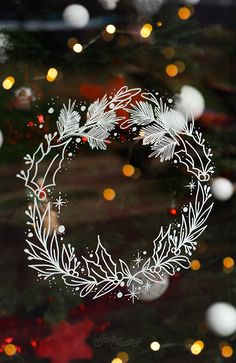 Flowers Drawns With Pen Ideas Christmas Party Ideas For Teens, Adult Christmas Party, Christmas Love, Christmas Window Decorations, Christmas Wreaths, Christmas Crafts, Christmas Ornaments, Holiday Decor, Christmas Doodles