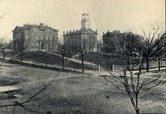 Marietta College was chartered in 1835. This picture of campus was taken 50 years later in 1885 from the corner of Fourth and Putnam Streets.