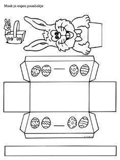 Kleurplaat Paasmandjes 1000 Images About Pasen On Pinterest Easter Bunny