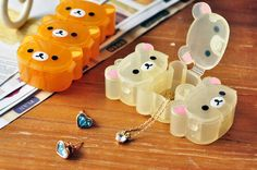 Cute Japanese Rilakkuma Relax Bear Gift Box Container