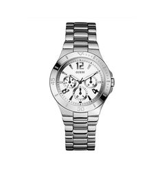 If you like keeping up with the latest fashion and accessory trends, buy Ladies' Watch Guess mm) at the best price.Gender: LadyType of movement: QuartzDiameter of the box: 38 mmWatch face colour: WhiteBracelet material: SteelBox. Laura Biagiotti, Hermes, Versace, Guess, Bulova, Unisex, Furla, Omega Watch, Rolex Watches