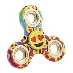 Emoji Face Balls Tri-Spinner Fidget Toy Ceramic EDC Hand Spinner Desk Focus Toy