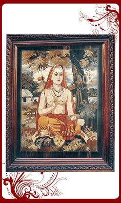 """woodwork,antique interior,Indian interior,Shankaracharya is the first among the three acharyas who reformed Hinduism by giving their own interpretation to the ancient sacred texts. At the time, the vedic texts were only orally studied and was the monopoly of a certain class. Jagadguru Sri Adi Sankaracharya was the greatest exponent of the doctrine of Advaita Vedanta and a savior of Vedic Dharma. Adi Sankaracharya believed in the philosophy of """"non-dualism""""(Advaita)."""