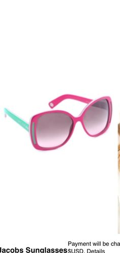 Marc Jacobs mint and hot pink sunglasses