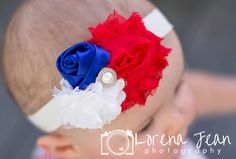 Baby Headband 4th of July Headband by BabyBloomzBoutique on Etsy, $8.95