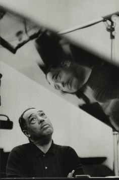 Duke Ellington, 1960 by Gordon Parks two greats in their world of music and photography, among other things.