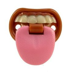 Billy Bob Pink Skull Pacifier with Ring