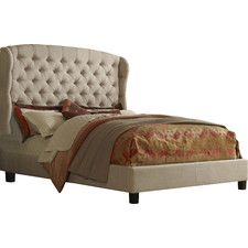 Felicity Upholstered Wingback Panel Bed