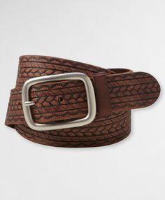 Levi's Burnished and Embossed Belt - Brown - Belts