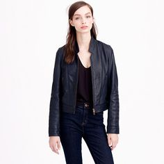 J.Crew - Collection standing-collar leather jacket
