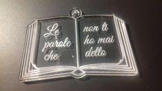 (476) ciondolo libro plexiglass trasparente con incisione, by Outlet ciondoli per creare, 3,50 € su misshobby.com