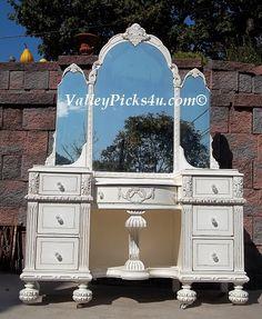 fancy vanity mirrors | Shabby White Chic Fancy Vanity