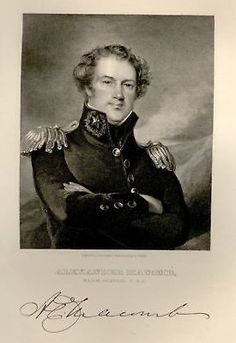 "ALEXANDER McCOMB from ""National Portrait Gallery"" 1834 - Engraving"