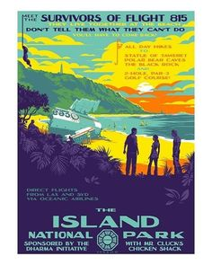 Lost - The Island National Park by Mark Englert (Regular) Pop Culture Art, Black Rock, Location History, Twitter Sign Up, National Parks, Shit Happens, Island, Gallery, Lost