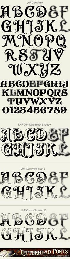 Letterhead Fonts / LHF Carnivàle font set / Circus Fonts
