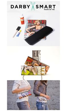 """I want to so do this...Love this magazine clutch? Make it with an @Darby Smart DIY kit!  This would be a great """"girls craft night"""" project."""