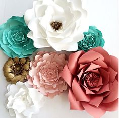 Large Paper Flowers for weddings, events or home decor  by PaperFlora