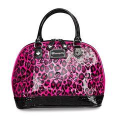 Leopard Pink Skull Embossed Bag - Bags