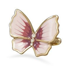 14 Karat Gold Plated Brass Butterfly Ring        Price: $26.93