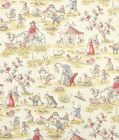 Covington Topsy Turvy Toile Fabric