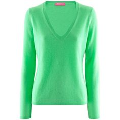 FTC Cashmere Green Cashmere Pullover Palina ($240) ❤ liked on Polyvore