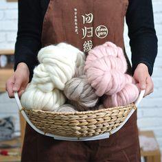 200g/ball 100% Super Thick Wool Knitting Yarns Wool Yarn For Hand Knitting Handmade Crochet Hook Weaving Yarn Free Shipping