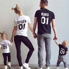 A royal family looking stunning!! We just love them! #familygoals #epictees We're so happy that so many people reacted to our collaboration with @kweilz  Here is the link to the set:  https://www.etsy.com/listing/288413557/king-queen-prince-princess-01-father?ref=shop_home_active_13&ga_search_query=queen
