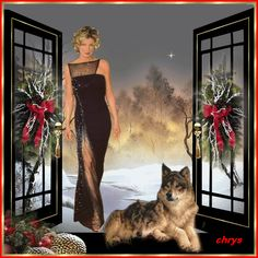 Animated Gif by Les Gifs, Betty Boop Pictures, Good Morning Gif, Wolf Love, Winter Christmas, Christmas Decor, Merry Christmas, Goa, Cool Websites