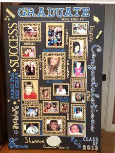 Graduation photo collage made using my cricut.