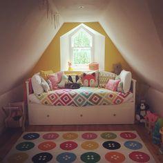 Attic room nursery   Ikea Hemnes daybed