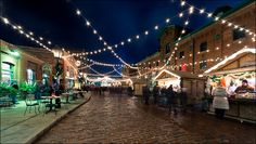 Christmas Market at Distillery District.