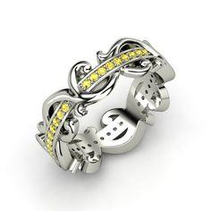 The Atlantis Eternity Ring #customizable #jewelry #sapphire #silver #ring