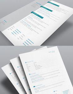 8 Sets of Free InDesign CV/Resume Templates