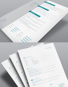8 Sets of Free InDesign CV/Resume Templates