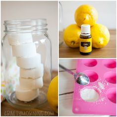 Lemon Toilet Fizzies (Homemade Cleaner) - Crafty Morning