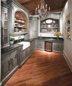 BOISERIE & C.: kitchens Fable. ....these are THE cabinets ! Luv the color !